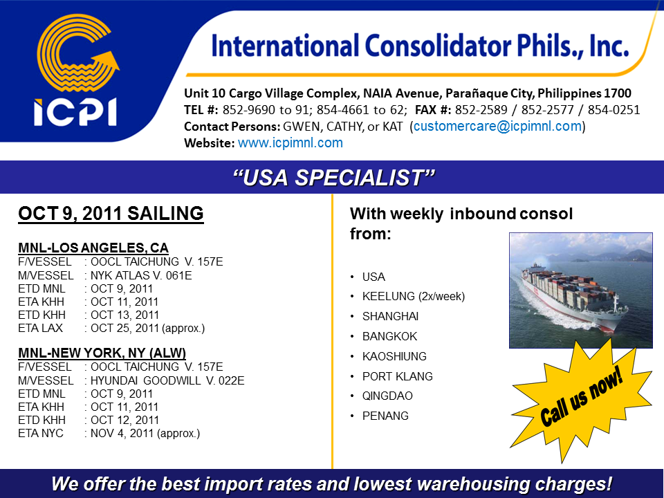 Weekly Consol International Consolidator Philippines Inc