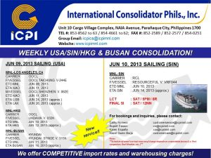 ICPI EXPORT CONSOL USA-SIN WEEK 23 2013