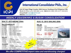 ICPI EXPORT CONSOL USA-SIN WEEK 32 2013