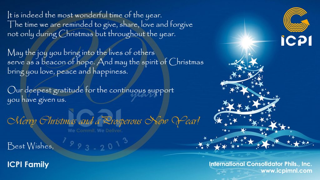 Merry Christmas Everyone - From ICPI Family