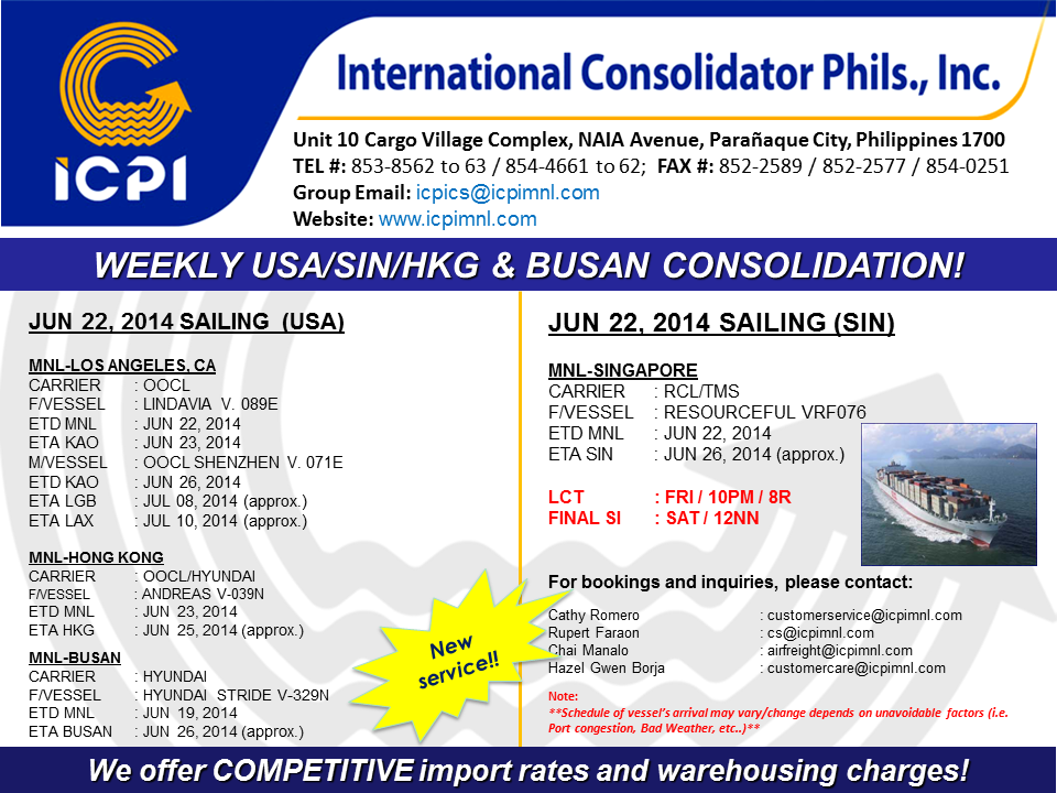 Busan Consol International Consolidator Philippines Inc