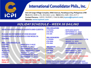 HOLIDAY SCHEDULE - NINOY HEROES DAY